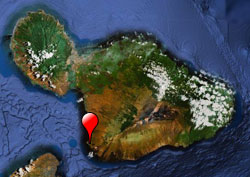 map showing makena location on Maui