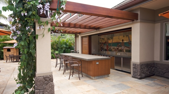 Outdoor kitchen pavillion for Hoolei residents to use