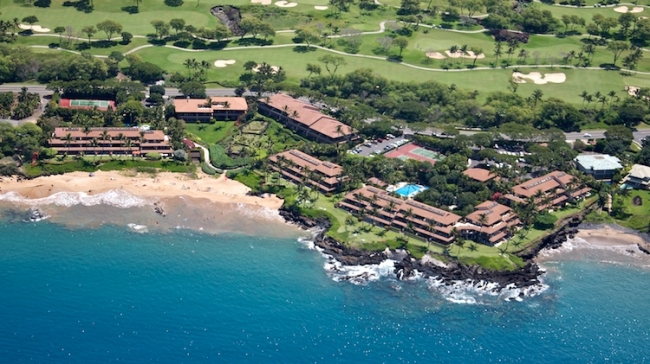 Secluded oceanfront condo community describes Makena Surf
