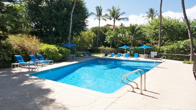 One of 2 pools and tennis courts are available to residents and rental guests