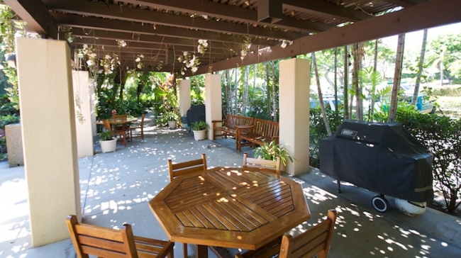 A BBQ and pavillion are available to residents and rental guests