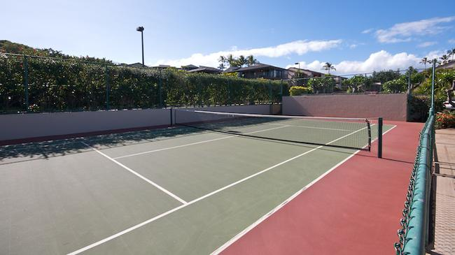A tennis court is available to residents