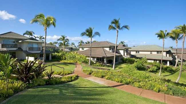 Beautifully terraced sidewalks and landscaping leading you toward the ocean