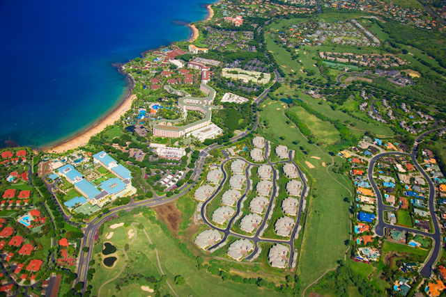 The community of Hoolei is right across the street from the Grand Wailea Resort Hotel & Spa and the world famous Wailea Beach.