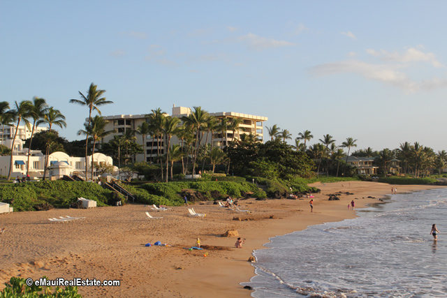 Looking back to Polo Beach Club from the neighboring beach