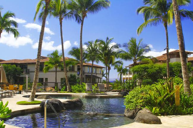 Take the serene setting that the Wailea Beach Villas pool has to offer residents