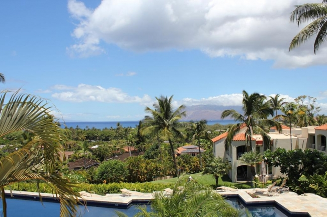 View neighboring islands from your unit at Wailea Palms