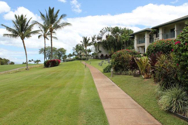 Pathways are easily accessible to residents to walk the property at Wilea Fairway Villas
