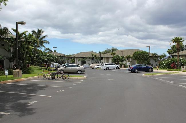 Numbered parking spots are given to Wailea Fairway Villas residents