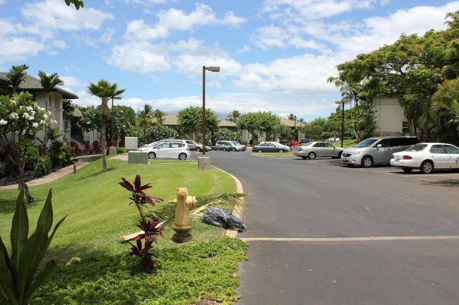 Plenty of residents parking near each villa