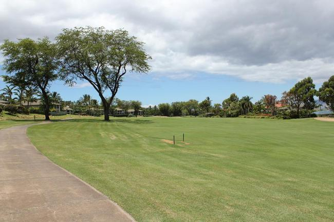 Panoramic views out your door are of the Wailea Golf Estates fairways
